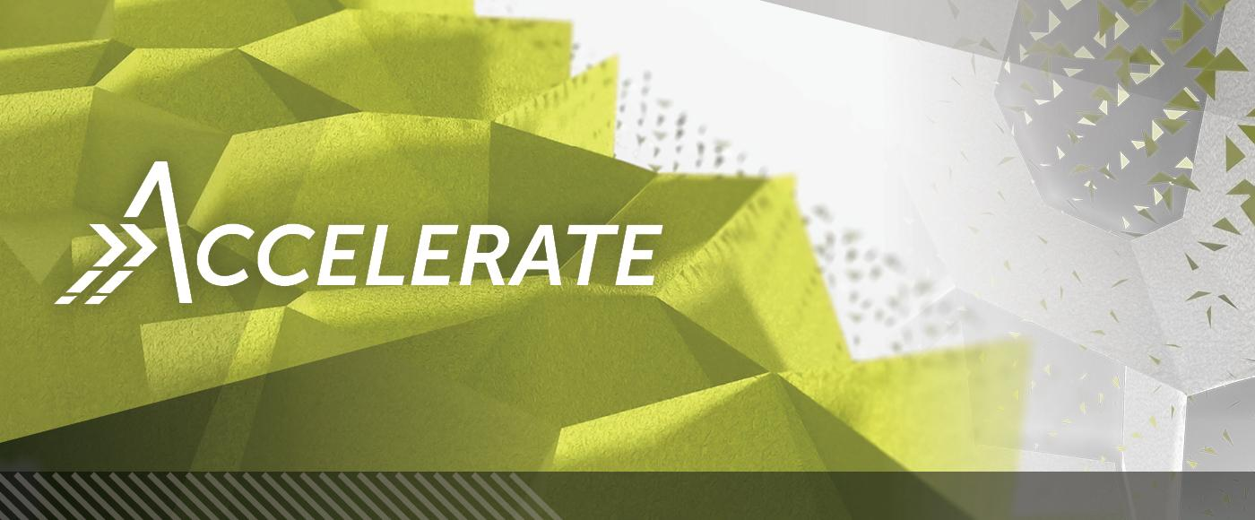 Accelerate newsletter banner